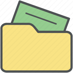 archive, computer folder, data storage, file folder, opened folder, storage icon