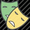 carnival, cinema mask, comedy mask, face masks, masks, performance masks, theatrical masks