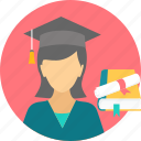 degree, girl, graduate, graduation, scholar, scholarship, student