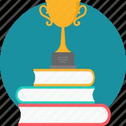 book, books, education, hardback, reward, trophy, winner icon