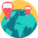 distance learning, earth, global, globe, international, learning, location icon