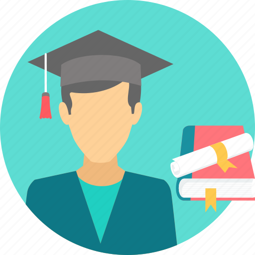 avatar, boy, degree, graduate, scholar, scholarship, student icon