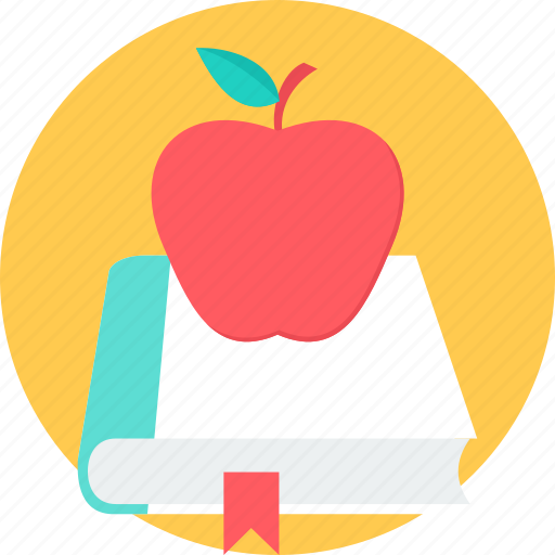 apple, book, care, doctor, fruit, health, healthy icon