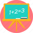 black board, blackboard, board, calculation, math, mathematics, maths icon