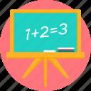 black board, blackboard, board, calculation, math, mathematics, maths icon