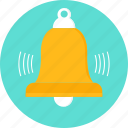 bell, period, school, signal, sound, time, timer icon