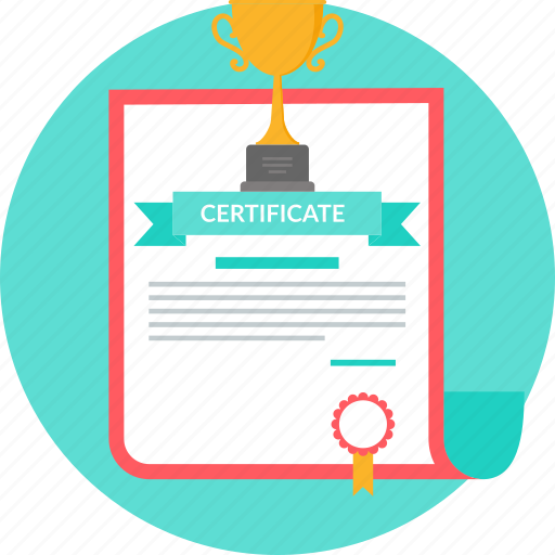 certificate, degree, diploma, document, record, trophy, winner icon