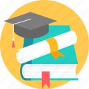 book, degree, diploma, graduate, graduation, scholar, scholarship icon