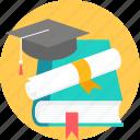 book, degree, graduate, graduation, scholar, scholarship, diploma