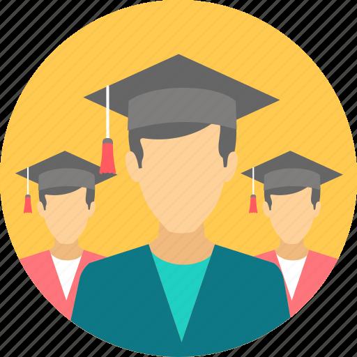 boys, degree, graduate, graduation, hat, scholar, student icon