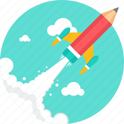 experiment, lab, research, rocket, satellite, science, space icon