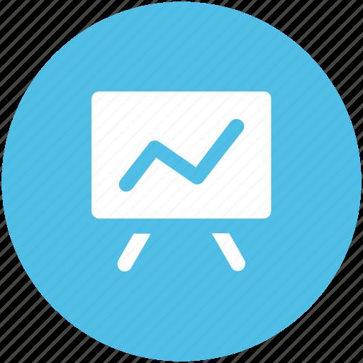 blackboard, business presentation, chalkboard, easel, graph presentation, presentation board, whiteboard icon