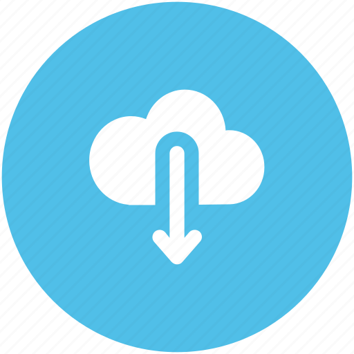 cloud, cloud computing, cloud downloading, download, storage cloud icon