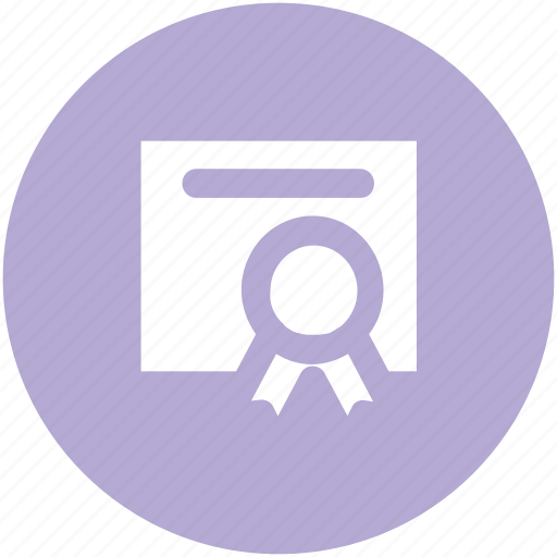achievement, certificate, certification, deed, degree, diploma, honor icon