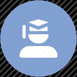 education, graduate, graduate student, postgraduate, student, university student icon