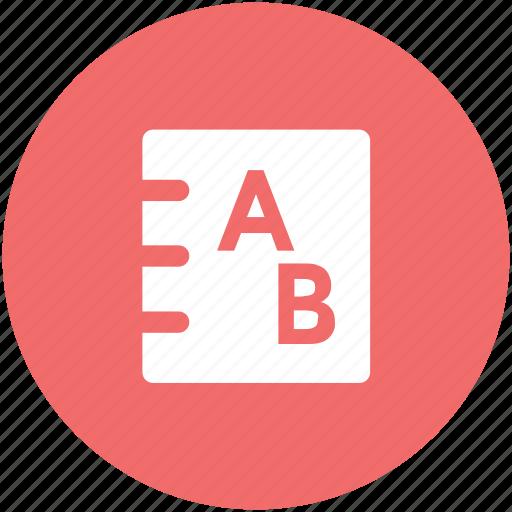 book, education, encyclopedia, english book, english literature, reading, study icon