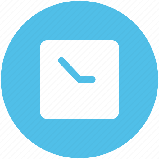 clock, square clock, time, time keeper, timer, wall clock, watch icon