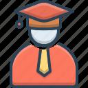 cap, education, graduate, hat, person