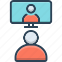 call, conference, conversation, video icon
