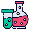 beaker, flask, lab, science, chemistry, research, experiment