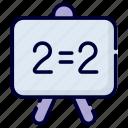 whiteboard, mathematics, math, calculation, school, learn, education