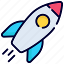 startup, rocket, spaceship, launch, missile, space, astronaut