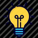 bulb, light, idea, lamp, creative, business, finance