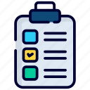 clipboard, checklist, document, paper, sheet, data, page