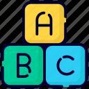 alphabet blocks, abc, alphabet, font, letter