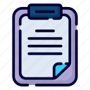 clipboard, paper, document, page, office, business