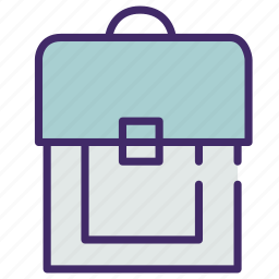 bag, book, case, hold, pupil, school icon