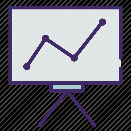 board, diagram, draw, graphic, teacher icon