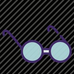 glasses, read, school, science icon