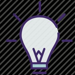 idea, illumination, innivation, lamp, light, school icon