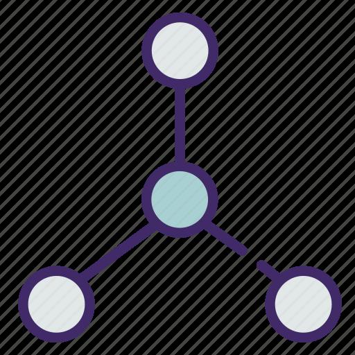 atom, chemistry, molecula, reaction, study icon