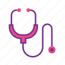 checkup, doctor, healthcare, heartrate, medical, stethescope icon