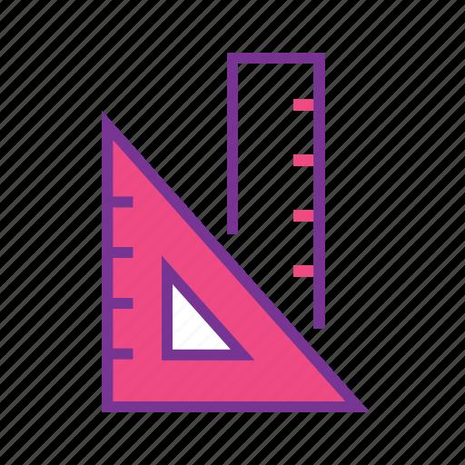 education, geometric scale, geometry, maths, rulers, tool icon