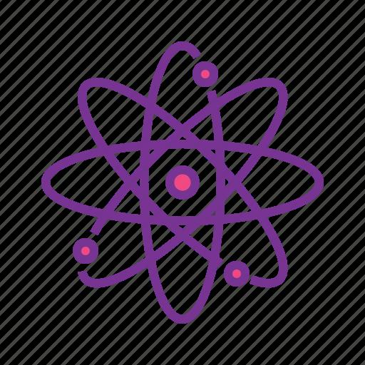atom, chemistry, molecule, nucleus, physics, science icon