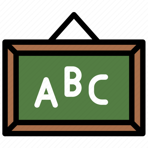 blackboard, education, learning, school, studying icon