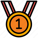 achievement, award, education, medal, reward, study, winner icon