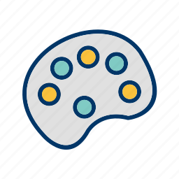 color, color pallete, drawing, paint, painting, pallete, picker icon