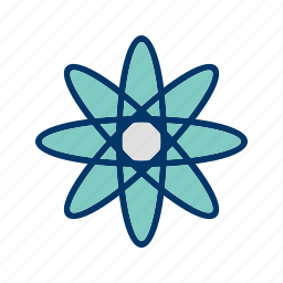 atom, experiment, molecule, nuclear, physics, science, structure icon