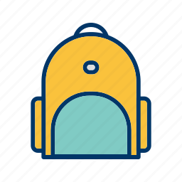bag, bagpack, college, education, school, student icon