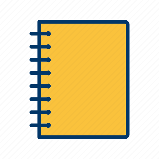 diary, document, notebook, pad, spiral icon