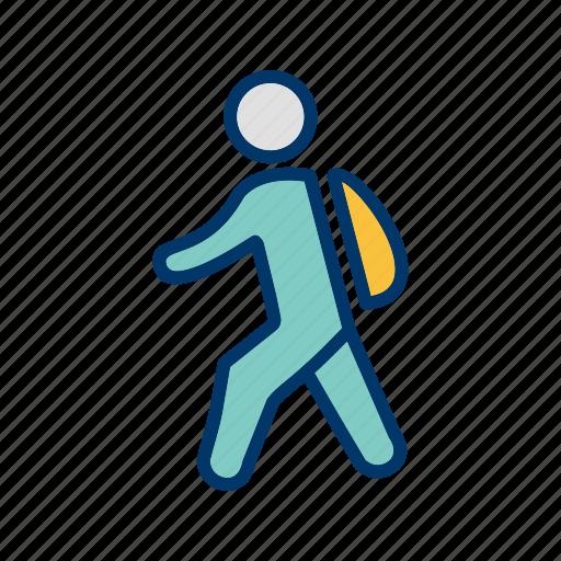 education, school, student, study, walking icon