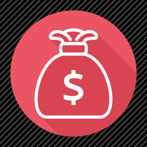 bag, bank, dollar, dollars, money icon