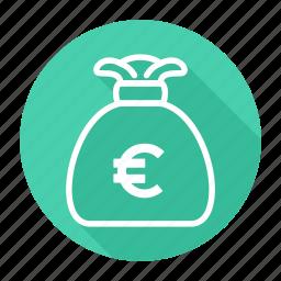 bag, bank, euro, money icon