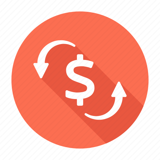 dollar, finance, financial, refresh icon