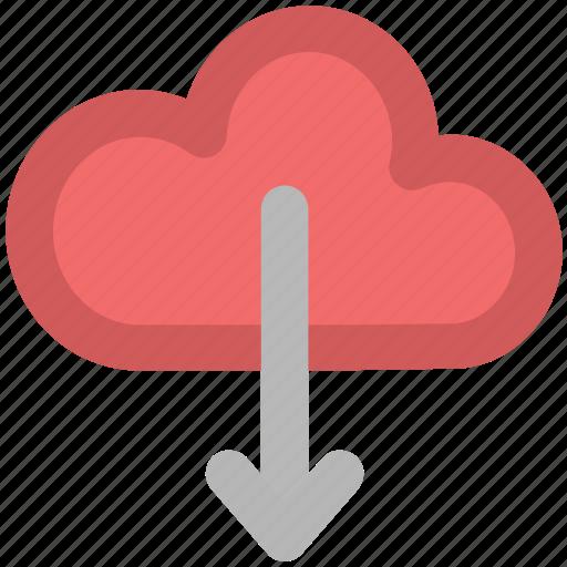 cloud, cloud computing, cloud downloading, download, storage cloud icon