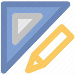 architecture, drafting, drafting triangle, drawing tools, geometry, pencil icon